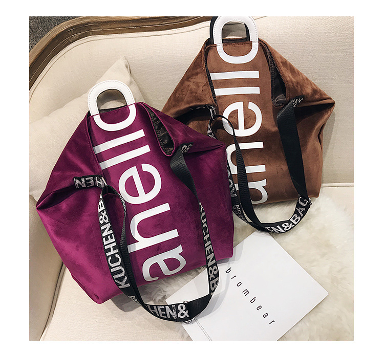 HTB19S4NXyrxK1RkHFCcq6AQCVXaH - New Large-capacity Velvet Handbag Fashion Lady Letter Shoulder Crossbody Bag High Quality Women's Shopping Bag Tote
