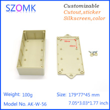one piece szomk plastic Electric DIY project box junction box portable instrument Enclosure for PCB power