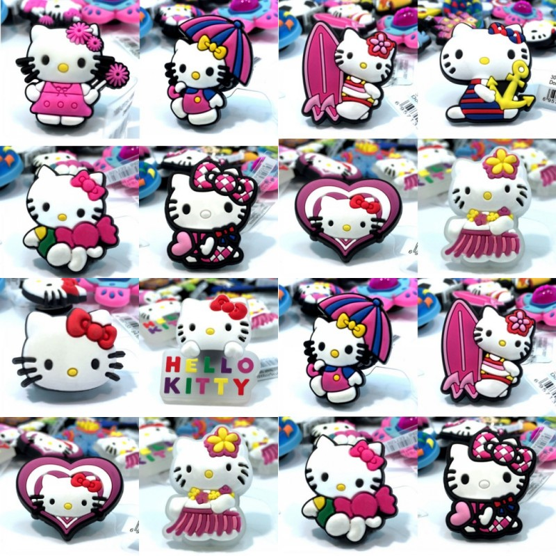 Devoted Novelty 2pcs/lot Cute Hello Kitty High Imitation Shoe Charms Shoe Buckles Shoe Decor Fit For Croc Jibz Bracelets Kids Gifts Shoes