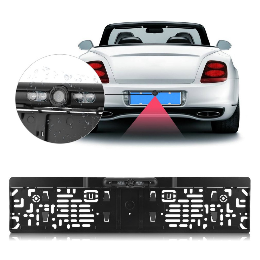 170 Degree Waterproof Plate Frame Night Vision Rear View Reverse Camera Backup Parking Assistance For Auto Car браслет sterlinks кожаный браслет с серебряным замком 250011 63 24