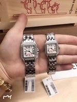 Роскошные Фирменная Новинка для мужчин женщин часы кварцевые сапфир нержавеющая сталь квадратный розовое золото серебро белый 2 Ряд