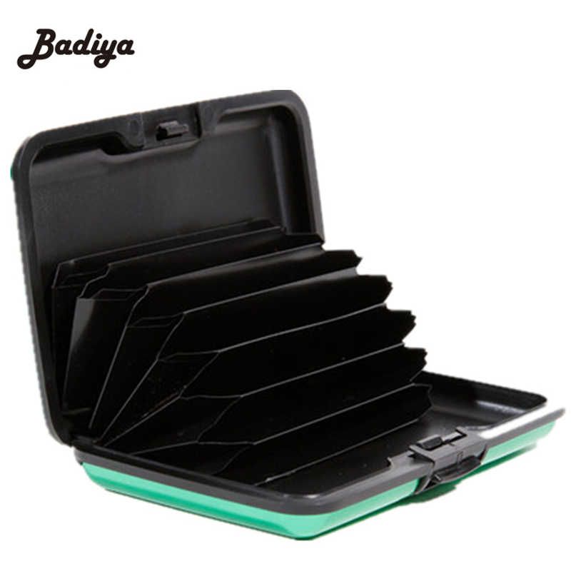 Fashion Aluminum Credit Cards Holder Metal Card Protector Anti Degaussing Safe Wallet Case RFID Blocking Card Case Container