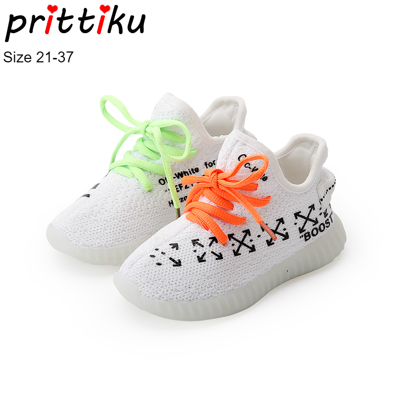 Autumn 2018 Boys Girls Running Sneakers Baby/Toddler/Little/Big Kid Lightweight Sport Gym Trainers Children Casual Flyknit Shoes teva orginal universal kids sport sandal toddler little kid big kid