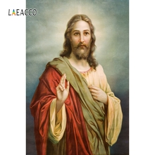 Laeacco Old Master Backdrop Jesus Aura Christ Portrait Photography Background Customized Photographic Backdrops For Photo Studio dawnknow handcrafted old master vintage photography background pro dyed muslin fashion backdrops for photo studio dm187