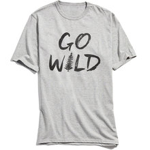 GO WILD T-shirts for Men Party T-shirts 2018 Hot Sale Letter Tees Grey Comics Tops Shirts O-Neck Military Cotton Sleeve Camisa grey letter one shoulder long sleeves t shirts