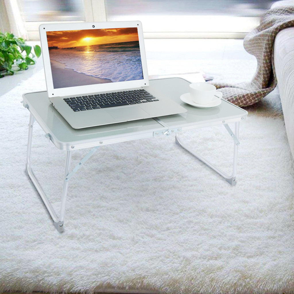 Large Bed Tray Foldable Portable Multifunction Laptop Desk Lazy Laptop Table Computer Desk Folding Lazy Laptop Desk