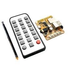 """רמקול אלחוטי Bluetooth 4.2 תמיכת אפליקציה 3.5 מ""""מ DIY אודיו אוזניות Out רדיו FM BT נגן MP3 FLAC APE ידיים חופשיות מודול"""