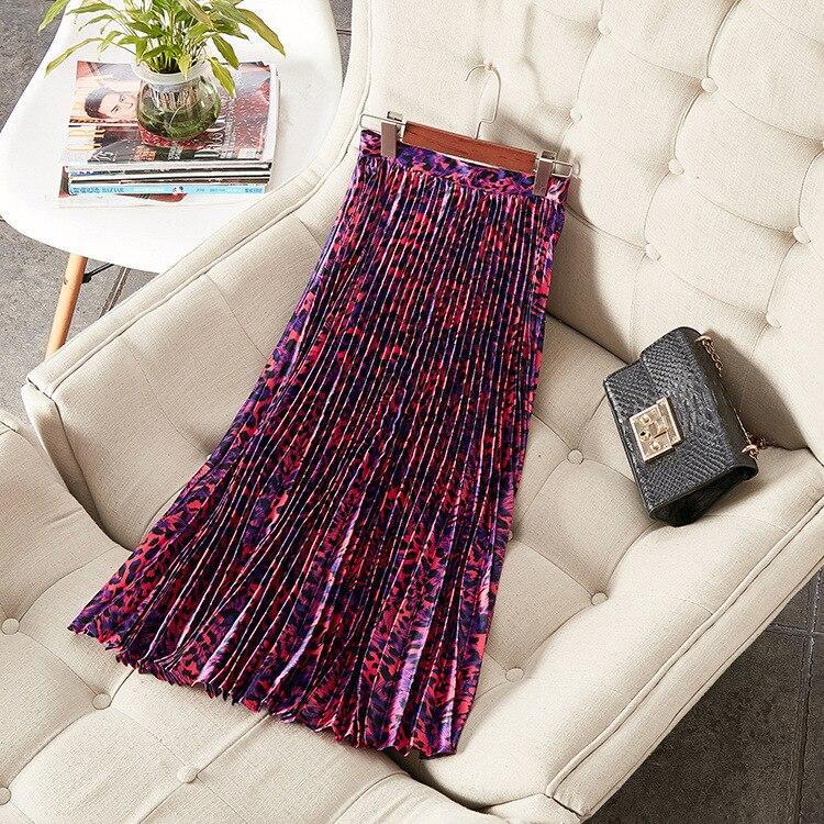 Летняя женская модная плиссированная юбка с принтом A086 - 4