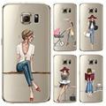 Phone case para samsung galaxy s5 s6 s6edge s6edge + s7 S7edge Pintado Comercial de Moda De la Cubierta Suave Del Silicio Del Teléfono Móvil bolsa