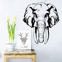 KEDODE Kreatywny Słoń Afrykański Osobowości Naklejki PCV Wymienny Salon Zwierząt Naklejki Ścienne Home Decor Tanie Naklejki
