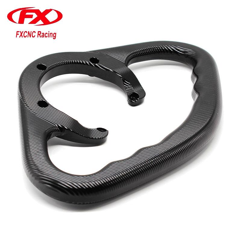 цена на FX Motorcycle Accessories Passenger Handgrips Hand Grip Tank Grab Bar Handle Armrest For SUZUKI GSXR 600 750 1000 1300 Hayabusa