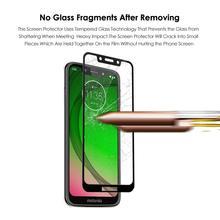 9 H Tam Kapak Temperli Cam Ekran Koruyucu Motorola Moto için G7 Oynamak için Moto G7 Artı için Moto G7 güç cam Filmi