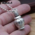990 Sterling Silver Vintage Flagon, Wine pot With Scripture Pendant Necklace Jewelry For Men Wonmen Punk