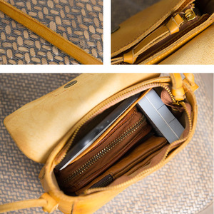 Image 5 - AETOO Original design handbags handmade leather casual Messenger bag Sen series literary retro leather mini saddle bag