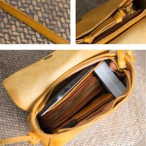 Image 5 - حقيبة يد بتصميم أصلي مصنوعة يدويًا من AETOO حقيبة ساعي البريد من سلسلة Sen حقيبة صغيرة من الجلد الأدبي الكلاسيكي