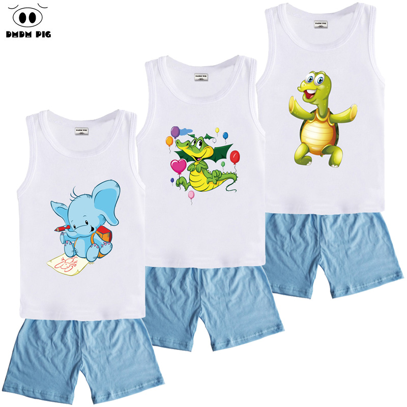 DMDM PIG Summer Clothing Sets Baby Clothes Kids Clothes Suits For Boys Children's Sports Suits Costume Child T-Shirts + Shorts
