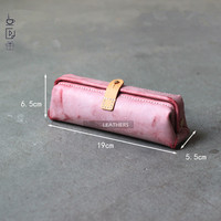 DIY handmade leather material package QQW 105 upgraded student pen bag gold storage bag materials package semi finished products