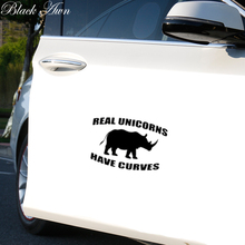 Real Unicorns Have Curves Funny Bumper Sticker Vinyl Decal Joke Car Truck Windo D157