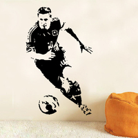 Creative Football Player Of The Year Lionel Messi Wall Stickers Football Star Decals Adesivo De Parede