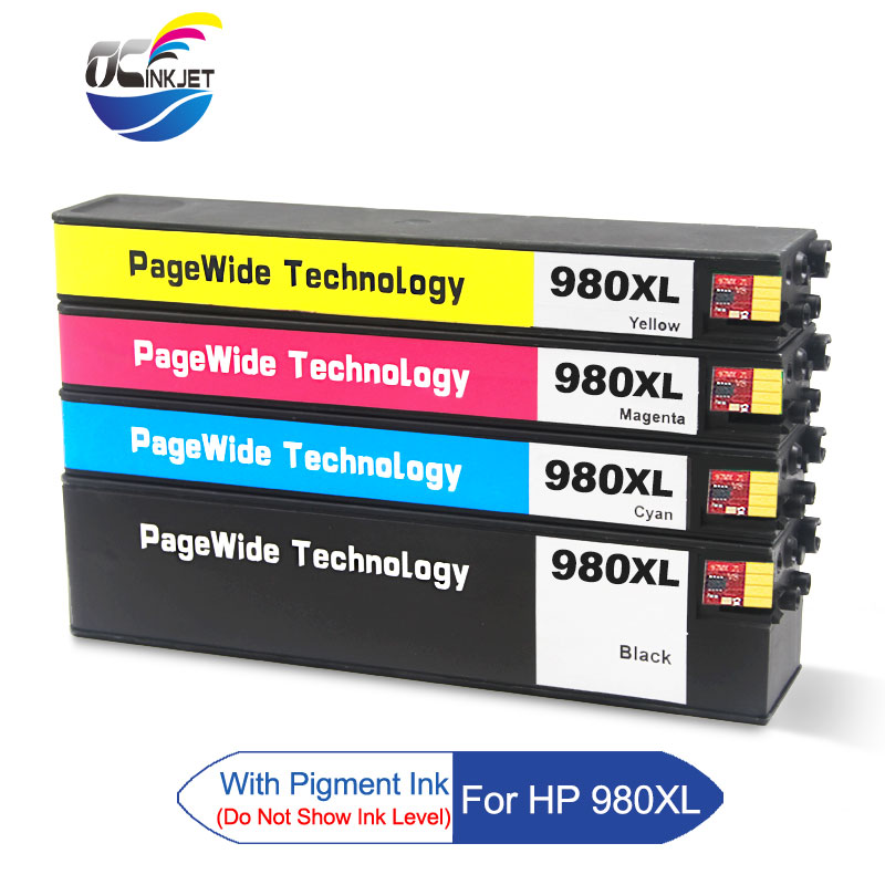 Third Party 4 PCS For <font><b>HP</b></font> <font><b>980</b></font> XL Remanufactured Ink Cartridge For <font><b>HP</b></font> Officejet Enterprise Color X555dn X555xh X585f X585dn X585z image