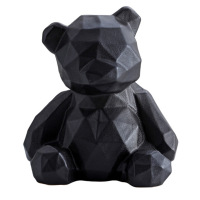 Nordic Ceramic Geometric Bear Handicraft Simple Modern Ceramic Black White Bear Room European Living Room Book Shelf Decoration