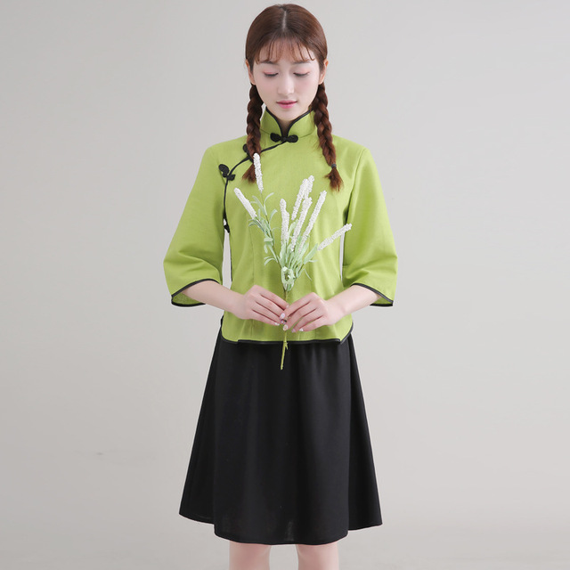green Fashion Five Four Girl Clothes In The Republic of China ...