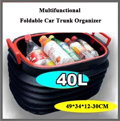 Car Styling 40L Car Trunk Collapsible Plastic Storage Box Portable Camping  Outdoor Road Trip Car Organiser Foldable Space Saving In Nets From  Automobiles ...