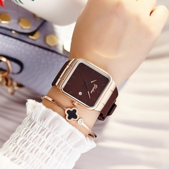 2018 Brand Women Watches Women Quartz Rose Gold Wrist Watch Femme