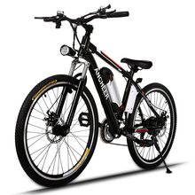 Ancheer 25 inch 21 Speed Mountain Bike With LED Headlamp and Horn Double Disc Brakes Aluminum Alloy Frame Road Bicycle Bicicleta