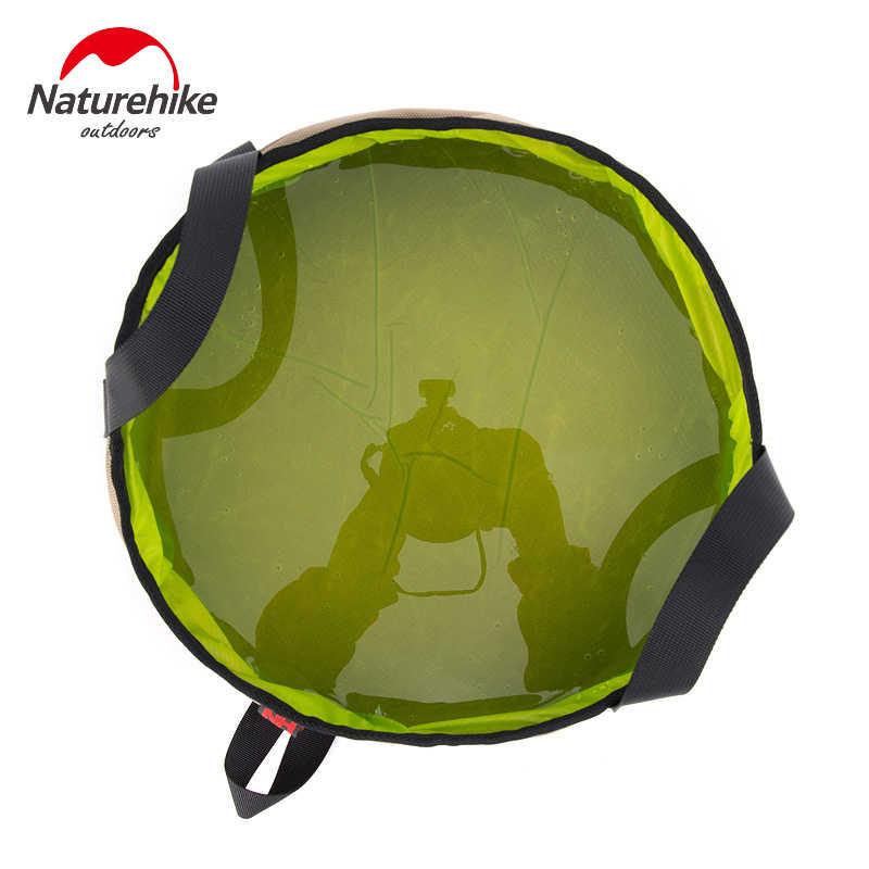 NatureHike, pesca al aire libre, senderismo, montaje, viaje, portátil, bolsa de cubo de agua plegable, 10L, capacidad de agua en Material TPU