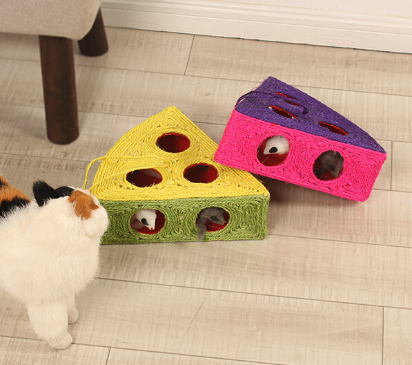 Cat toy's Pet Creative half watermelon toys Mice cat scratch board amusing diversion toys Grasp wear-resisting resistance