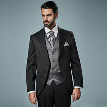 Black Groom Tuxedo Wedding Suits for Men Blazers Latest Coat Pants Designs Terno Masculino Costume Homme Formal Man 3Piece