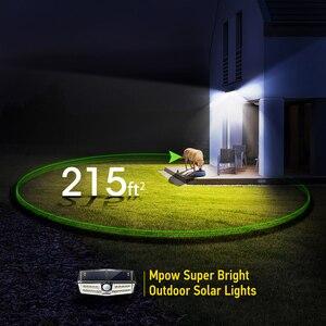 Image 4 - Mpow CD137 30 светодиодный солнечный свет сада Ipx7 водонепроницаемый солнечный светильник широкий угол солнечный датчик движения для тропинки гаража/бассейна