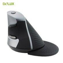 Delux M618 Wireless Ergonomic Vertical Mouse 1600 DPI Computer USB Upright Optical 2.4G Mice for PC Laptop Desktop