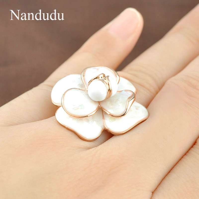 Nandudu Kualitas Tinggi Hot Sale Blooming Enamel Flower Rings Bridal - Perhiasan fashion - Foto 6