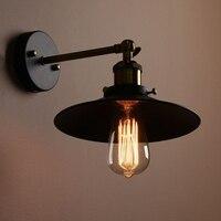 Smuxi E27 Retro Bowl Lampshape Oft Rustic Antique Pendant Light Vintage Industrial Metal Wall Mounted Hanging