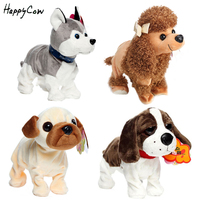 Electronic Pets Sound Control Robot Dogs Interactive Robots Toy Dog Bark Stand Walk Husky Poodle Toys For Kids Baby Gifts