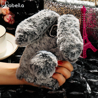 AKABEILA Silicon Cases For Meizu M5 Note Case Rabbit Hair Bling Diamond Anti Knock Covers Meilan