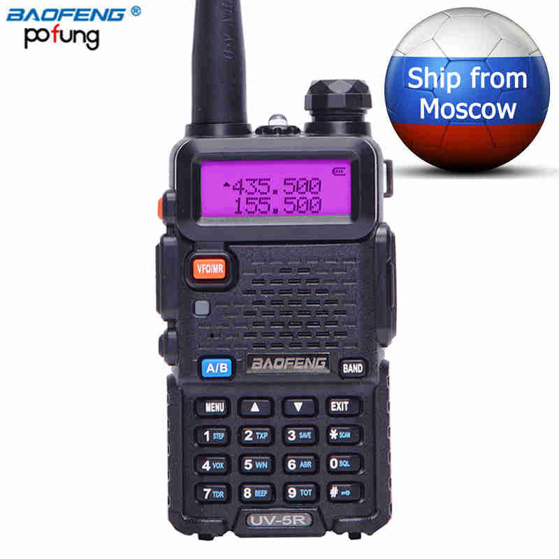 Baofeng UV-5R Talkie Walkie amateur UHF VHF Double Bande Radio Portable pofung uv5r Émetteur-Récepteur cb Two Way Radio chasse Toky woky