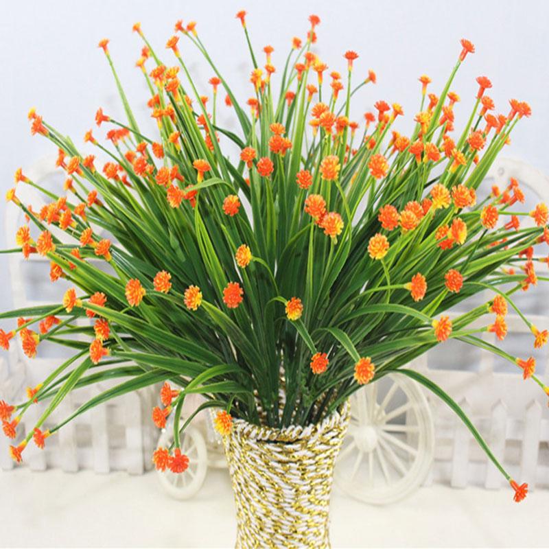 2017 m. Ribotas 1vnt 7 dangaus žvaigždės lapų dirbtinis plastikinis gėlių augalas gėlių dekoro padirbtų lapų modeliavimas mažas vazoninių augalų namai