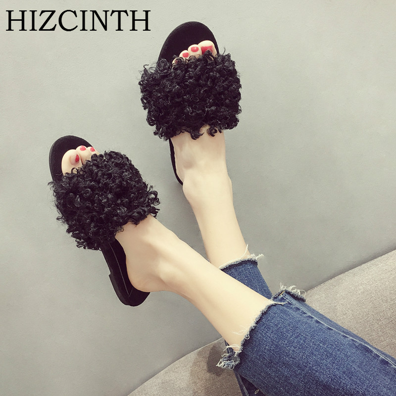 HIZCINTH 2018 Summer Flats Slippers Women Wear Slippers Outdoor Sandals Casual Student Slides Fur Flip Flops Woman Slipper Shoes new 2018 shoes woman sandals wedges lovely jelly shoes solid casual slippers summer style fashion slides flats free shipping