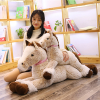 90cm 120cm Crouching Horse Plush Toy Big Huge Plush Horse Animal Soft Doll Unicorn Horse Toys For Kids Birthday Christmas Gift