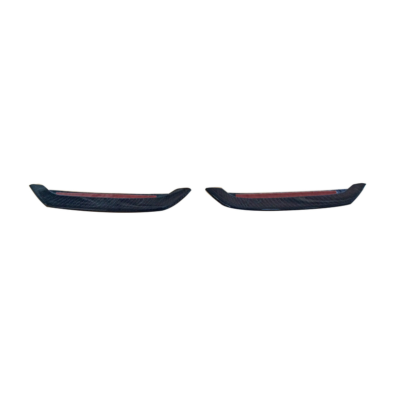 Glossy Carbon Fiber AP Style Front Bumper Duct Insert Racing Air Vent Accessories Splitter Body Kit