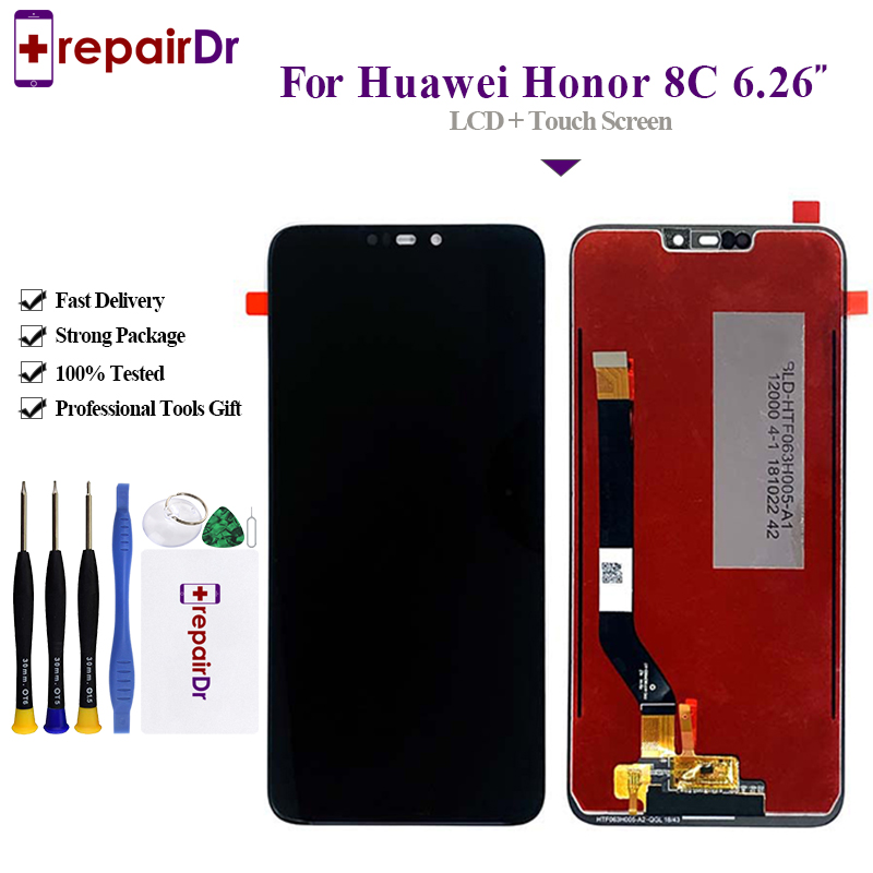 2018 Newest For Huawei <font><b>Honor</b></font> <font><b>8C</b></font> LCD <font><b>Display</b></font> <font><b>Touch</b></font> <font><b>Screen</b></font> Digitizer Assembly For Huawei <font><b>Honor</b></font> <font><b>8C</b></font> LCD BKK-AL10 <font><b>Screen</b></font> <font><b>With</b></font> Frame image
