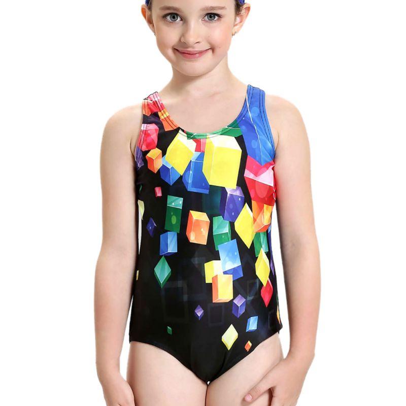 Girl Beach Swimming Suit Summer Seaside Swimming Pool Swimsuit Summer Baby Swimsuit Cute Professional Swimwear One Pice