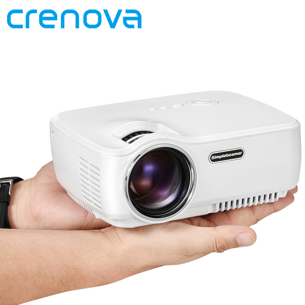 Crenova mini portable led projector support full hd 1080p for Top rated pocket projectors