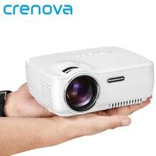 Crenova Mini Portátil Proyector LED Soporte FULL HD 1080 P HDMI/USB/AV/SD/VGA para Juegos de PC de Cine En casa de Vídeo Portátil TV Beamer