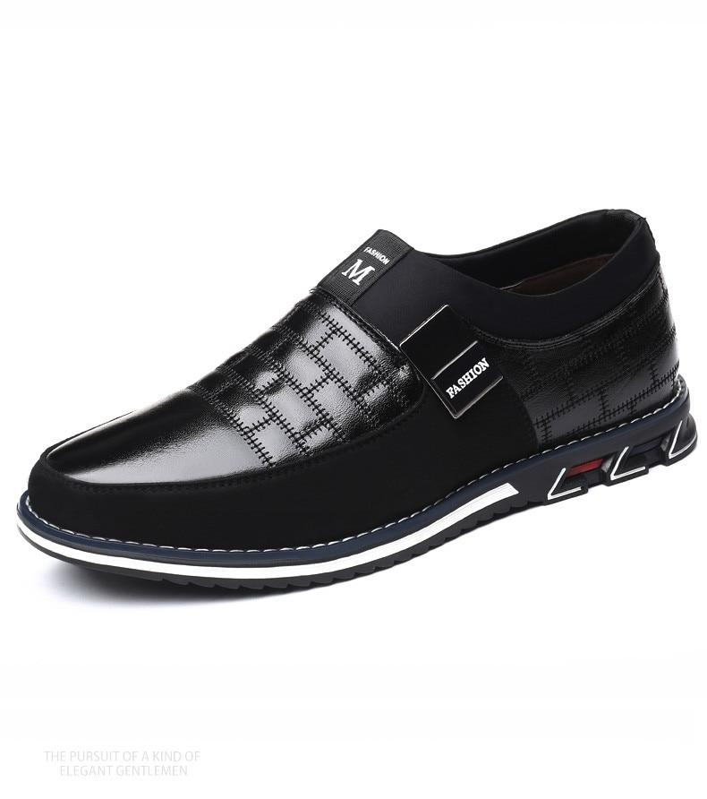 HTB19S9Ea1L2gK0jSZPhq6yhvXXaB ZUNYU New Big Size 38-48 Oxfords Leather Men Shoes Fashion Casual Slip On Formal Business Wedding Dress Shoes