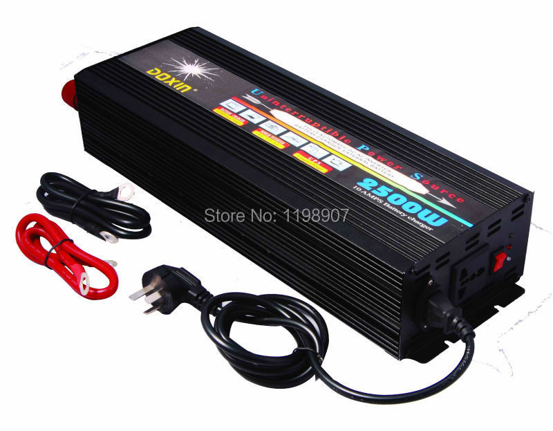 Free Shipping 2500Watt DC TO AC <font><b>UPS</b></font> Power Inverter 12v 220v 230v 2500W real (5000W peak) With Battery Charge