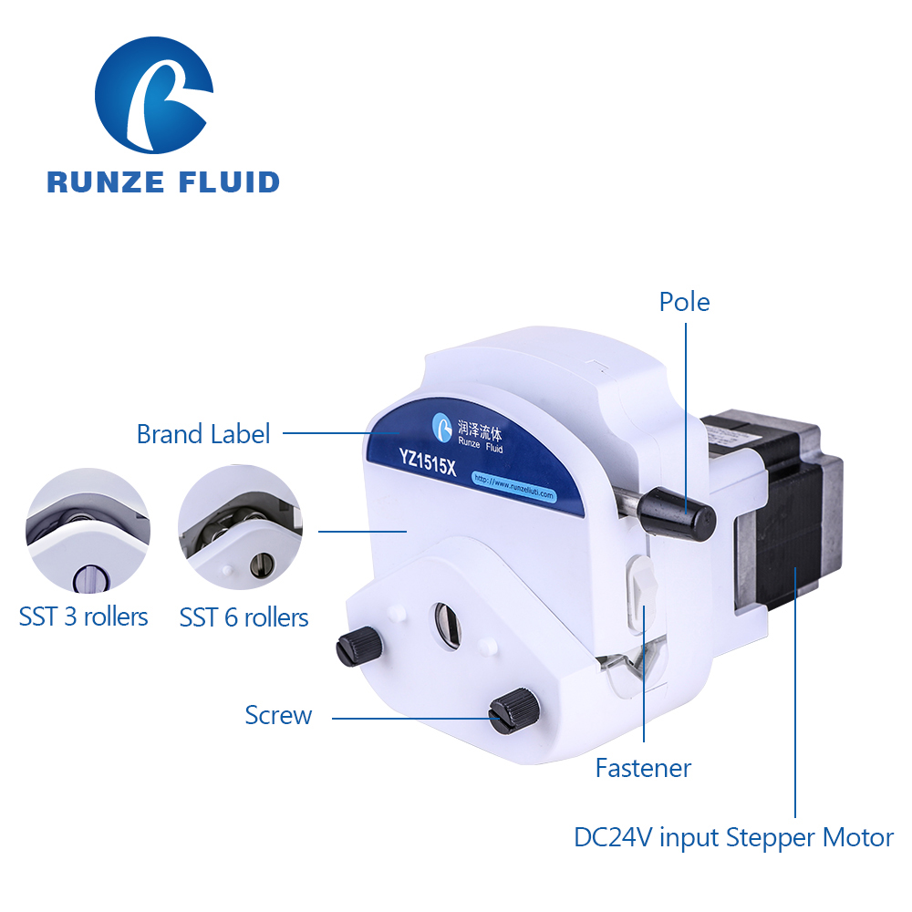 RUNZE 24V Stepper Motor Programmable Peristaltic Pump Oil Dosing Metering Easy Load